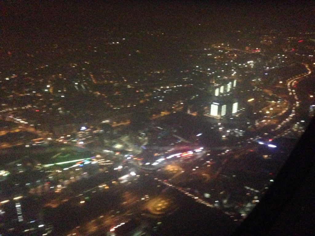 plane view of istanbul by night